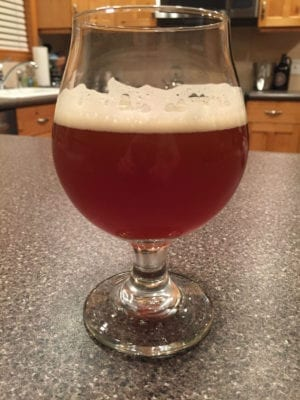 Not part of the Beer Tasting Mastery course, but I evaluated my homebrew pale ale alongside other pales.