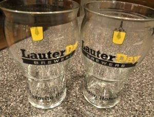 Innovative beer glasses — a perk for members of the Lauter Day Brewers homebrew club