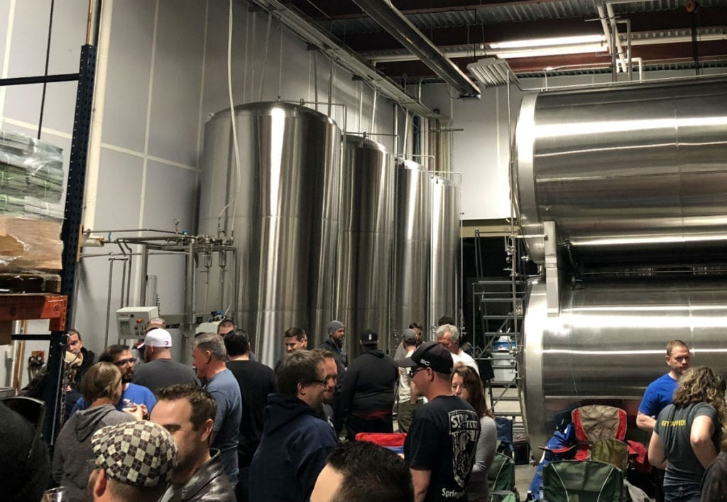 Dozens of homebrew enthusiasts attend the March meeting of Lauter Day Brewers.