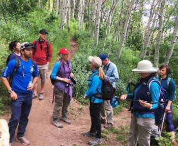 A Hops Hunter Hike offers a natural history and local history tour of Summit County. Photo courtesy of Summit Land Conservancy.