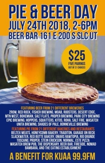 Pie & Beer Day - Beer Bar Flyer
