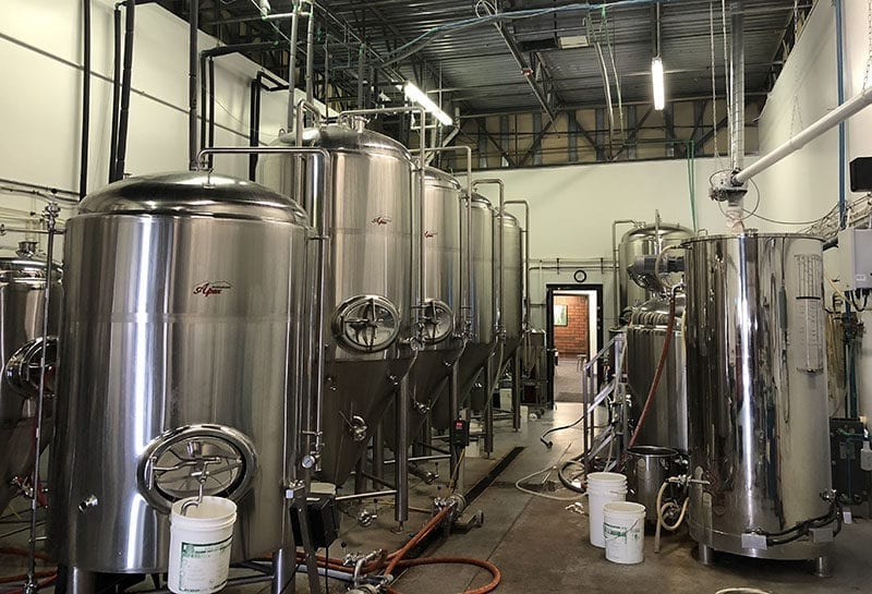 The 2 Row Brewing brewery, which has expanded considerably in the last three years.