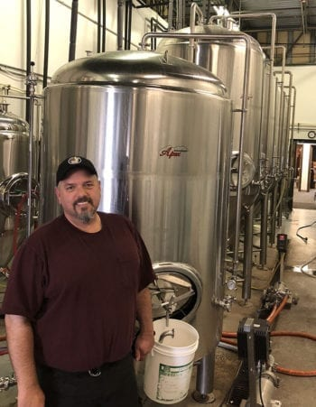 Brian Coleman, 2 Row Brewing President and Brewmaster, at his brewery in Midvale, Utah.