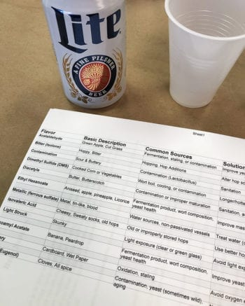 Off Flavors Sensory Evaluation - Descriptors - Utah Beer News