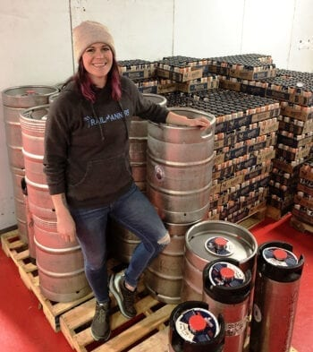 Jacquie King started as a bartender at Roosters' 25th Street location in Ogden. In 2015 she started brewing for Roosters and in 2016 she became the brewery's head brewer.