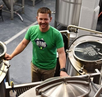 Carson Foss, owner and brewmaster at UTOG Brewing Co.