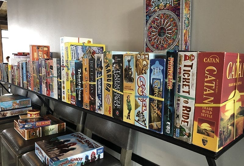 Ales & Allies Game Nights provides nearly 100 games for your playing pleasure.