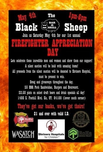 Firefighter Appreciation Day - Beer Events - Utah Beer News