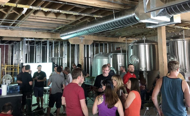 The Lauter Day Brewers homebrew club meets in July at what will be the Bewilder Brewing brewhouse.