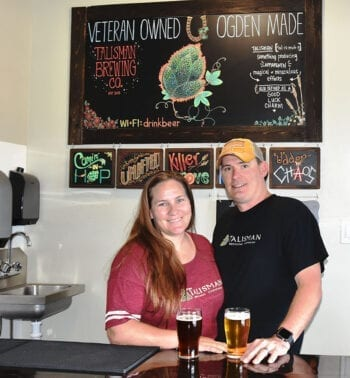 Joann and Dusty Williams, co-owners of Talisman Brewing Company. The Ogden brewery opened in 2016.