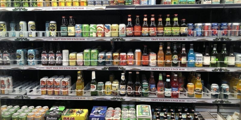 Shelves of 4% craft beer at Harmons grocery store. A new law goes into effect on Nov. 1, 2019, that will allow for Utah retailers to sell beer containing up to 5% alcohol by volume.