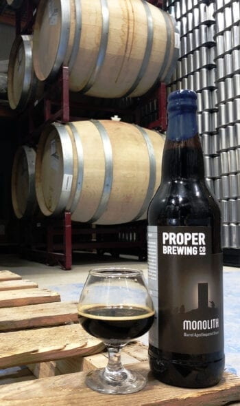 Monolith, a barrel-aged imperial stout, is Proper Brewing Co.'s first barrel-aged beer.